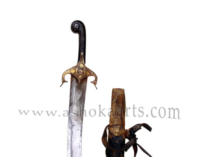 rare Antique Persian Shamshir Sword with wootz blade