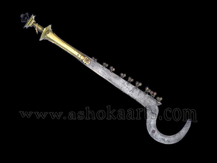 Indian Sacrificial 'Kali' sickle sword used in ritual bloodletting
