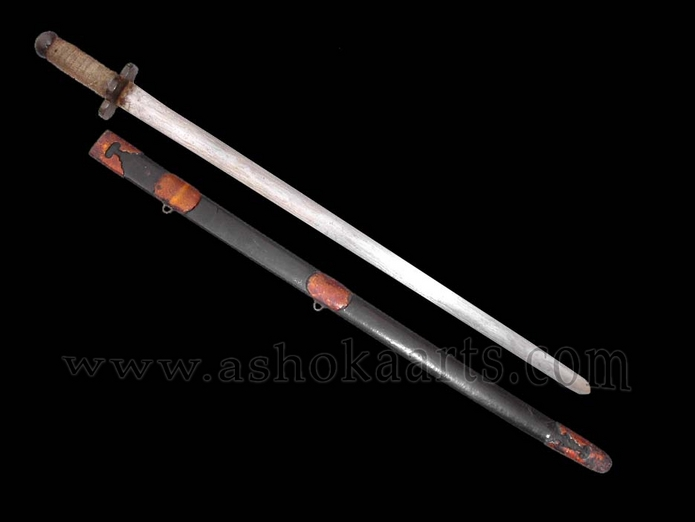Rare Antique Chinese Jian sword with Dao-type mounts ...