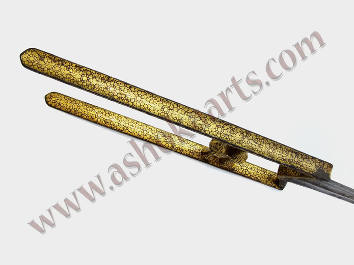 Indian katar dagger with goldwork and calligraphy ashoka Arabic calligraphy tools