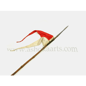 British Military Lance 1868 pattern with red and white pennant