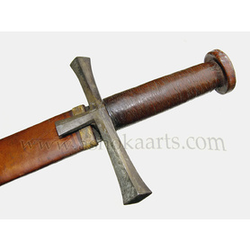 Lovey old example..!  Kaskara sword from Sudan with fine leatherwork