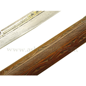 Scarce 19th century Long Bladed Flyssa sword from Algeria