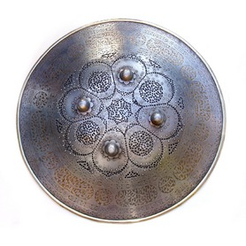 Fine Persian Qjar Sipar or Dhal Shield