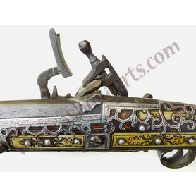 Beautiful Berber Musket from Northern Morocco with silver and ivory