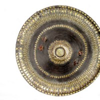 Fine Abyssinian leather Shield with Silver-Gilt Mounts