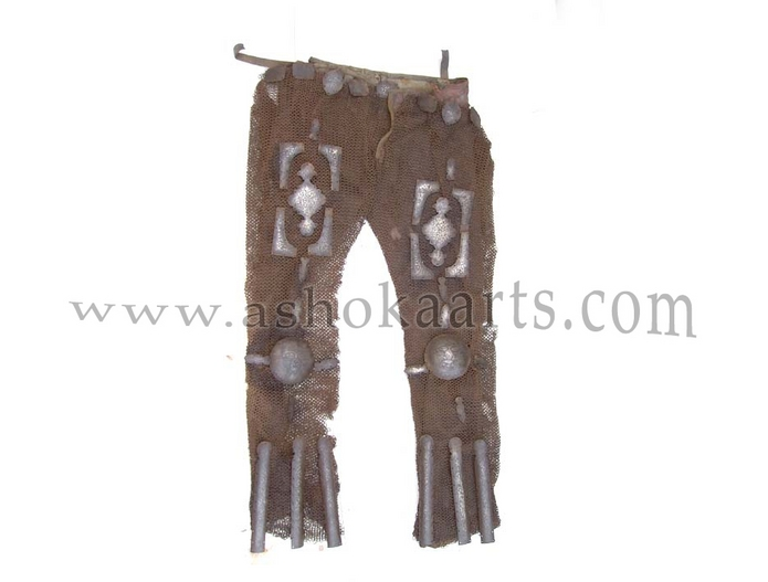Rare Antique Mail Armour trousers with gold damascened plates from Persia or the Caucasus