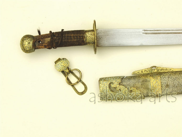 Antique Chinese Qing Jian Sword 19th century