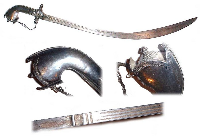 Silver decorated Saif sword from Southern Arabia circa 1800