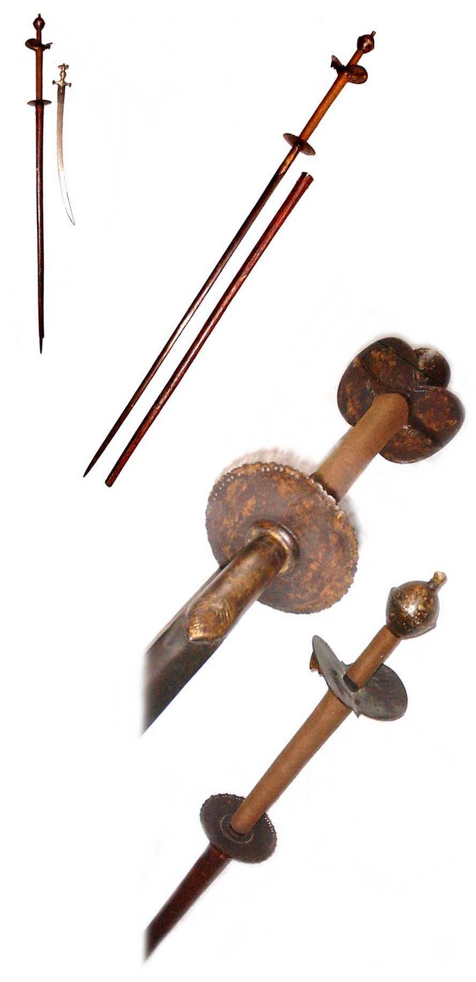 Early Indian Two handed sword from the Deccan with rapier blade