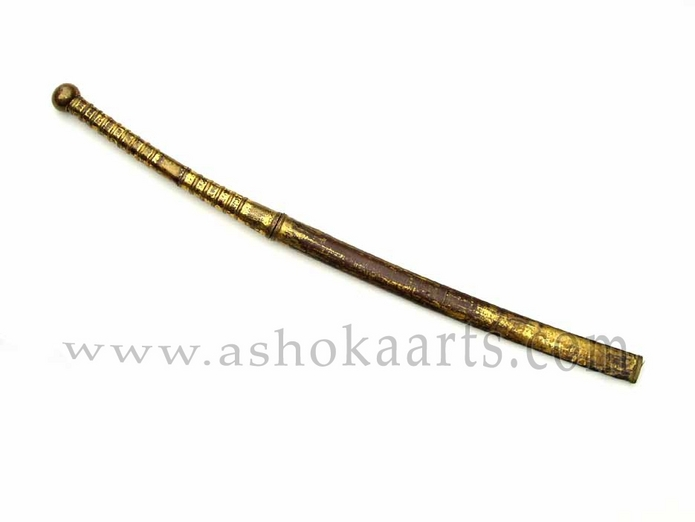Antique Thai sword Dha with gilt mounts