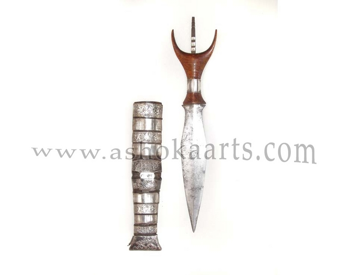 Fine Silver Mounted Mandaya Dagger from the Philippines