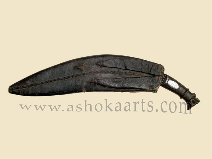 Presentation Nepalese Kukri knife chopper with silver plaque