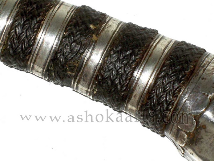 Silver mounted Moro Keris Sword with 'Hoof' style pommel, South Philippines