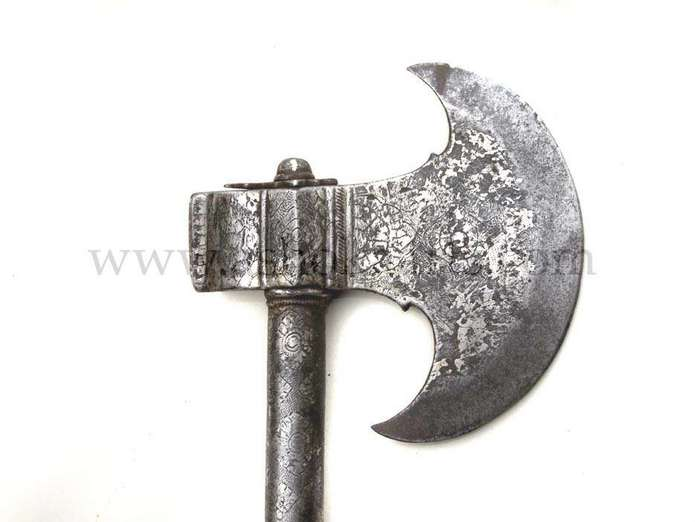 Indo-Persian war axe from Northern India