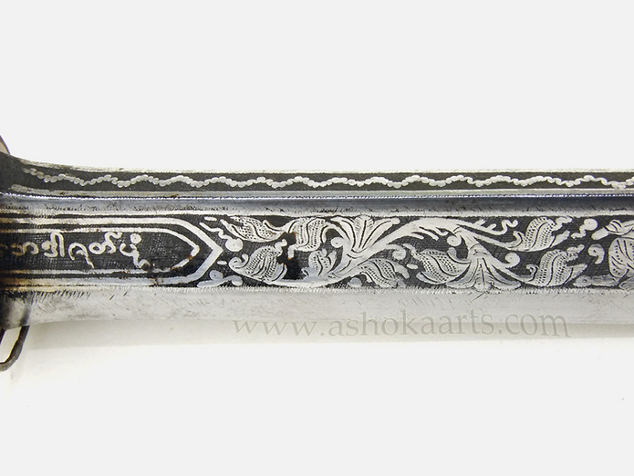 Superb Burmese 19th century Dha with thick Silver decoration | Fine antique oriental arms and armour swords and weapons for sale from ashoka arts