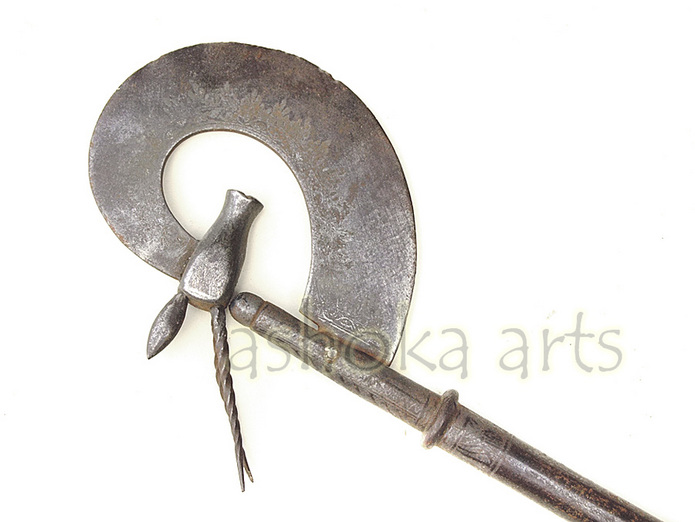 Superb Indian 'Antelope' Mughal style Axe  www.ashokaarts.com  fine antique oriental arms and armour swords and weapons for sale