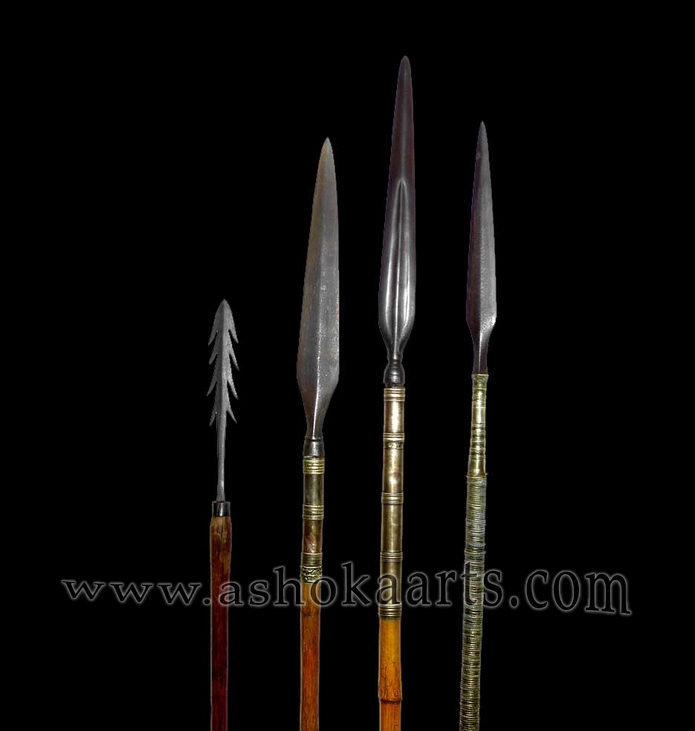 Group of Antique Philippine Spears inlcuding Moro