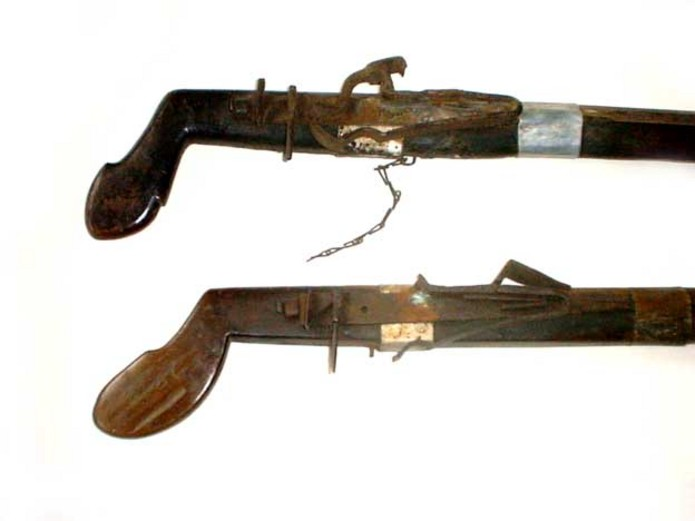 Rare Montagnard or Thai Hill tribe flintlock Guns