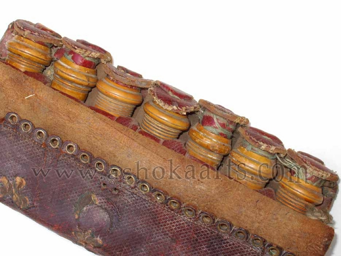 Antique Turkish Leather Cartridge Case
