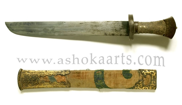 Fine Antique Eastern Tibetan Gold decorated Dagger