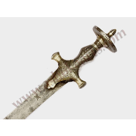 Indian Tulwar sword with silver