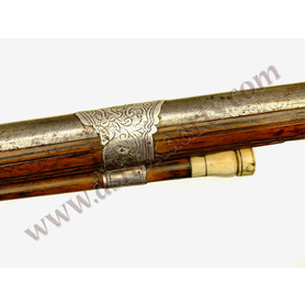 Fine Algerian Long musket with silver inlay 19th century