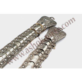 Heavy Silver Greek or Balkan Belts with decoration