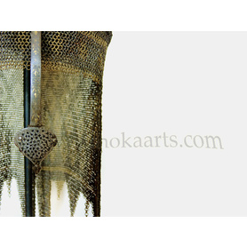 Fine Persian Khula Khud watered steel Helmet with gold damascened decoration