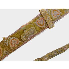 Rare Indian Silk embroidered Sword Belt Rajput