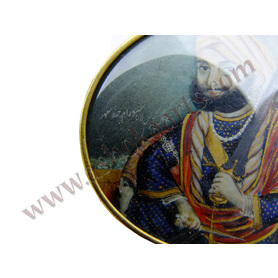 Sikh Maharaja Shere Singh Indian miniature painting on ivory