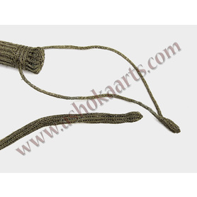 Silver wire braided whip