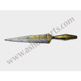 Spanish brass engraved dagger